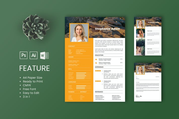 Thumbnail for Professional CV And Resume Template Adam