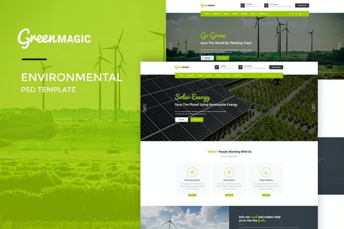 Thumbnail for Green Magic : Environmental PSD Template