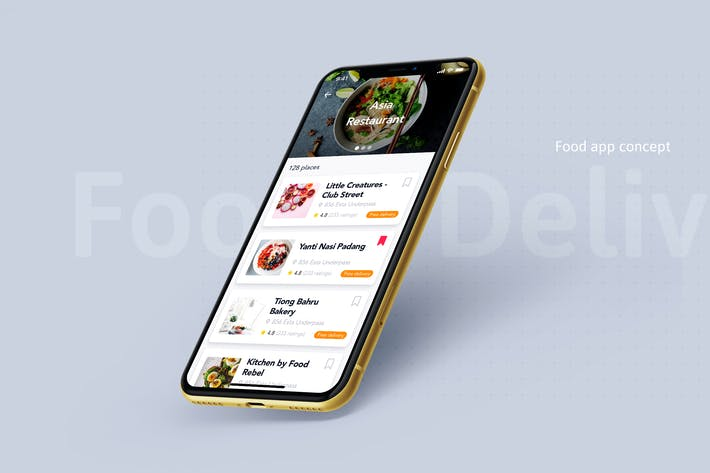 Thumbnail for Food Delivery app concept