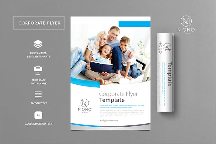 Thumbnail for Corporate Flyer Template 10