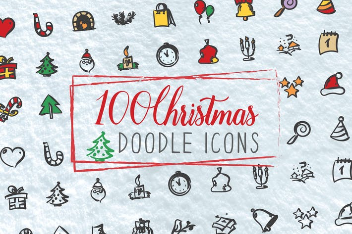 Thumbnail for 100 Christmas Doodle Icons