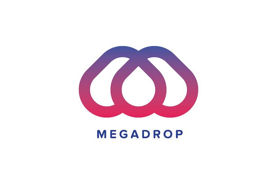 Mega Drop Logo Template