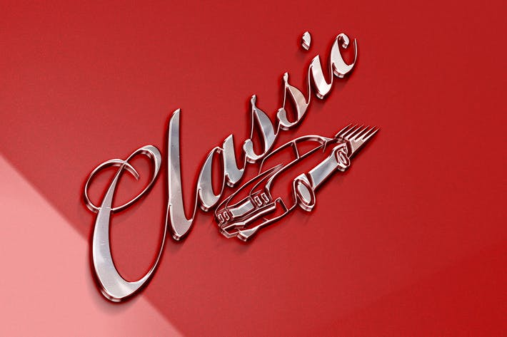 Thumbnail for Klassisches Logo Mockup