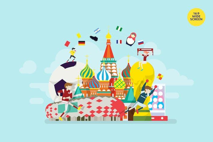 Thumbnail for Russland WM Fußball Vektor Konzept
