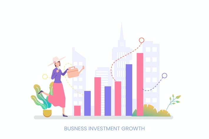 Thumbnail for Business Investment Growth Vector Illustration