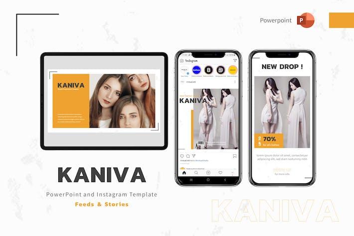 Kaniva - Шаблон Powerpoint и Instagram