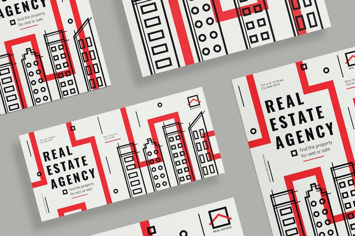 Thumbnail for Real Estate Agency Flyer and Poster Template