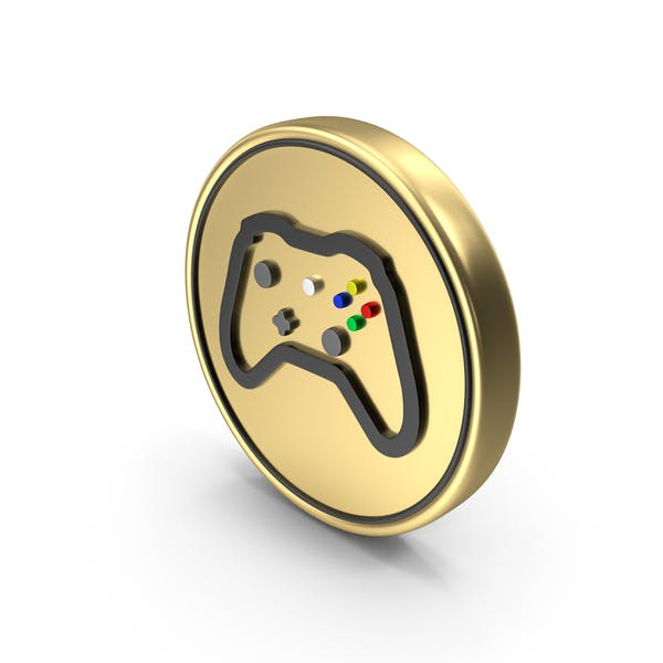Video Game Play Coin Logo Icon