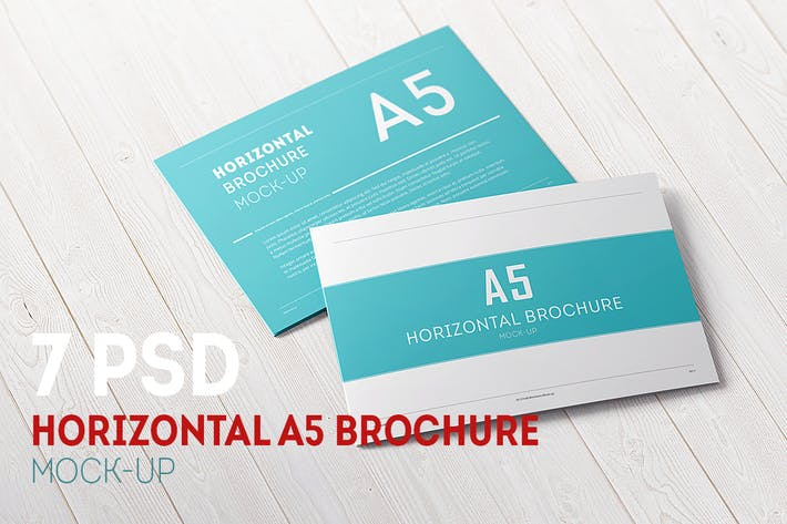 Thumbnail for A5 Tri-Fold Horizontal Broschüre Mock-up