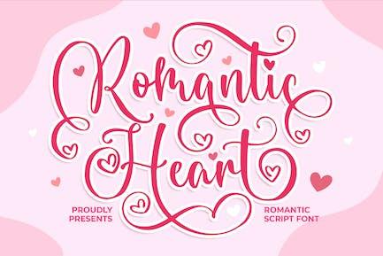 Corazón romántico una fuente de escritura romántica