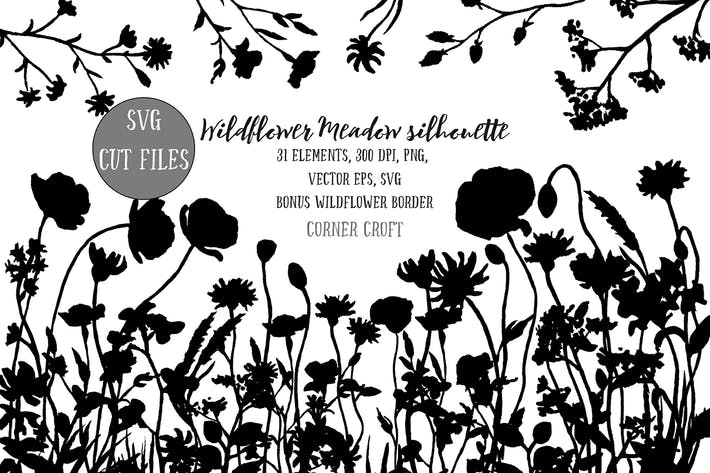 Cover Image For Flower Meadow Illustration PNG, SVG, EPS