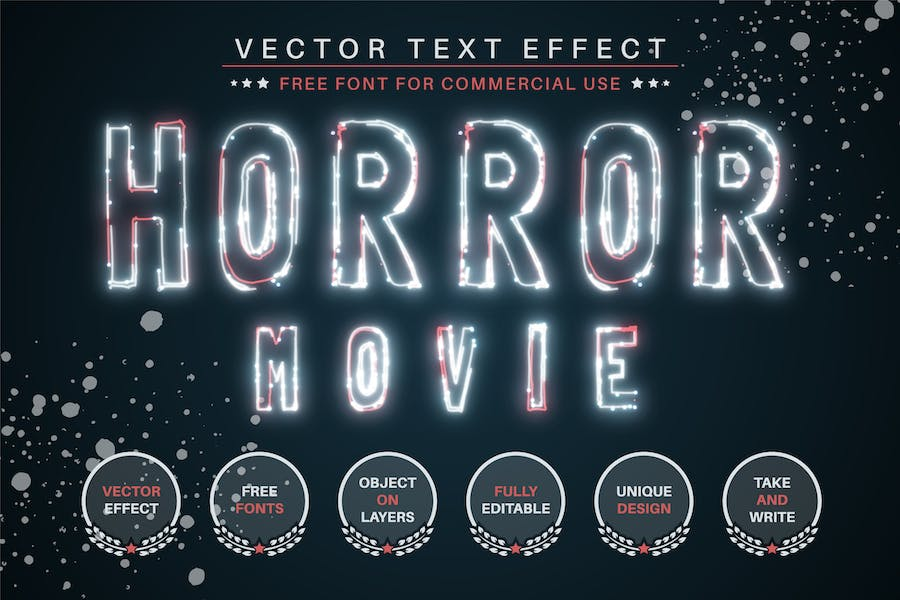Horror Movie -  Editable Text Effect, Font Style