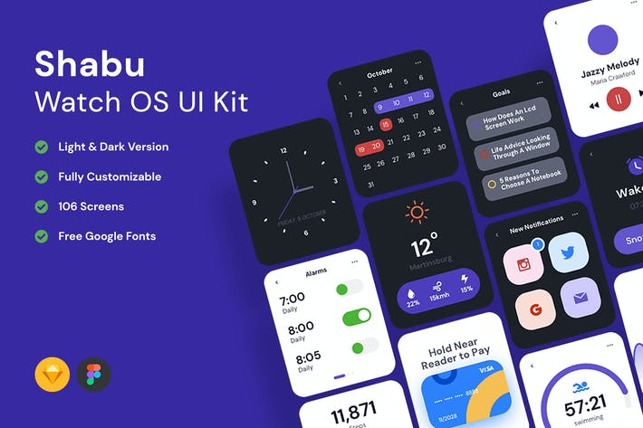 Shabu - Watch OS UI Kits