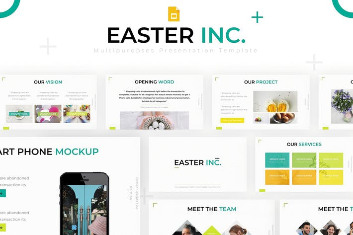 Thumbnail for Easter Inc - Google Slides Template
