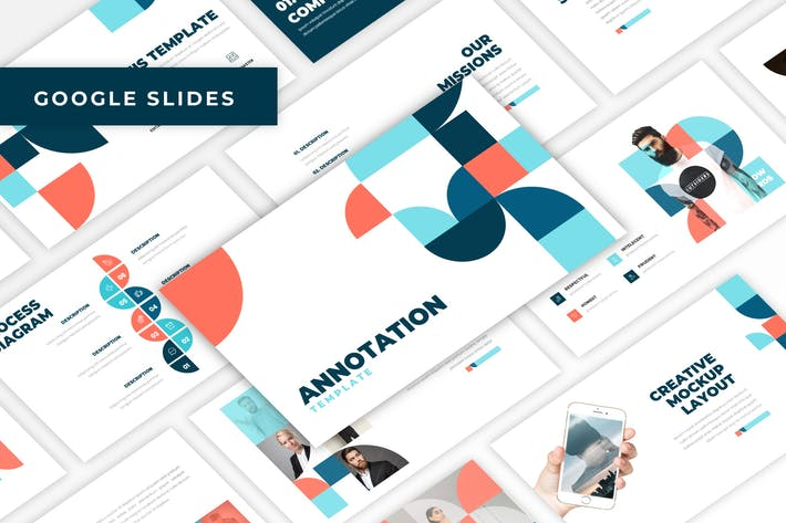 Thumbnail for Annotation - Flat Design Google Slides Template