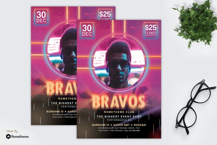 Thumbnail for Bravos - Music and Party Flyer HR