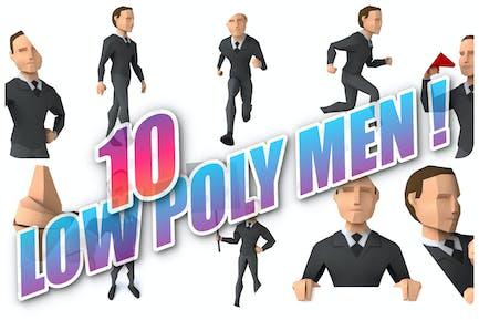 10 low poly Men !