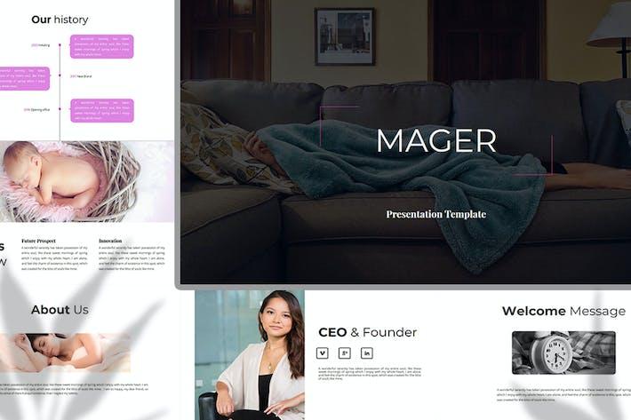 Thumbnail for Mager — Google FolienVorlage Unternehmen