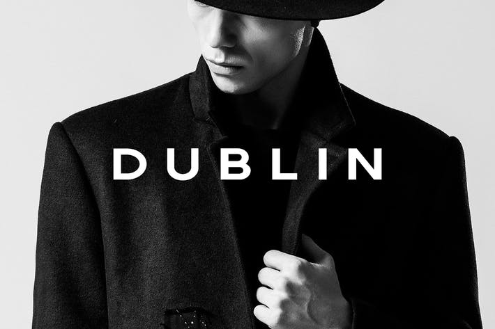 Thumbnail for DUBLIN - Minimal Display / Headline Typeface