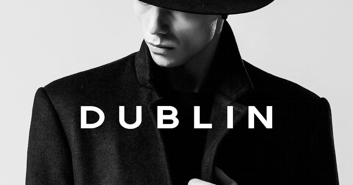 Download DUBLIN - Minimal Display / Headline Typeface by designova