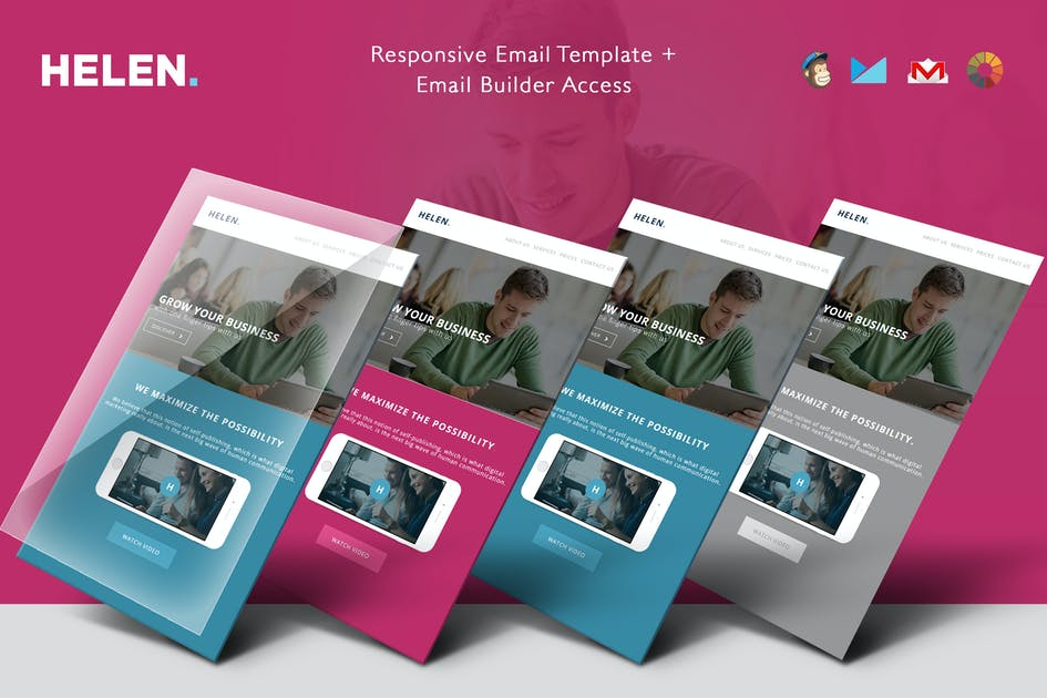 Download Helen - Corporate Email Templates + Builder Access by theemon