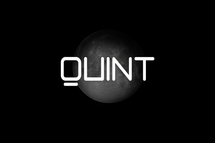 Thumbnail for QUINT - Unique Techno / New Age Display Typeface