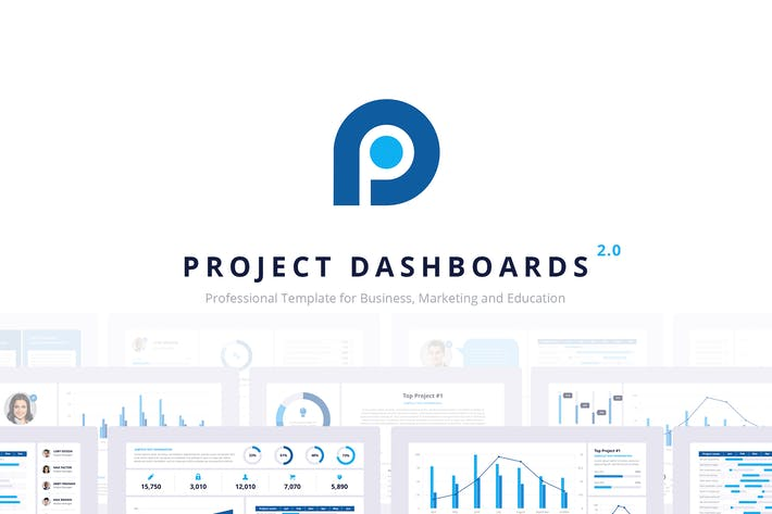 Thumbnail for Project Dashboards 2.0 for PowerPoint