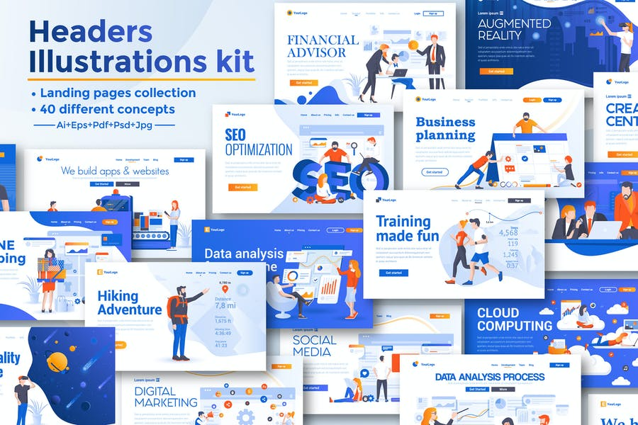 BIG Collection of Landing page templates