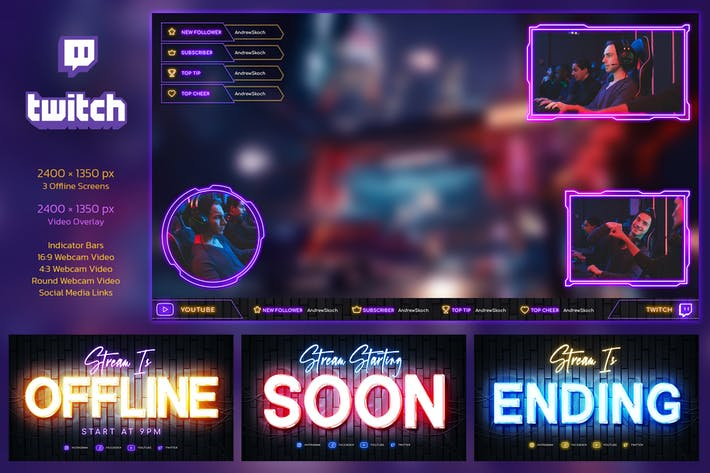 Neon Gaming Twitch