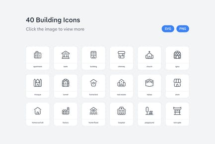 Building icons — Line