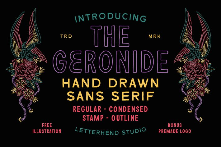 Thumbnail for The Geronide - Hand Drawn Sans Serif