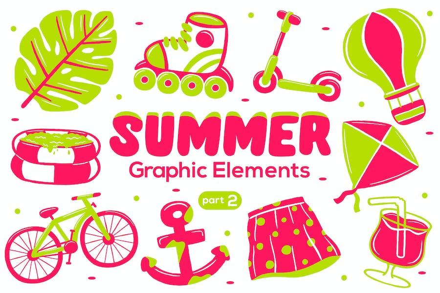 Summer Graphic Elements part 2