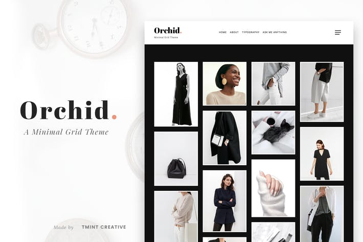 Cover Image For Orchid - Minimal Grid Tumblr Theme