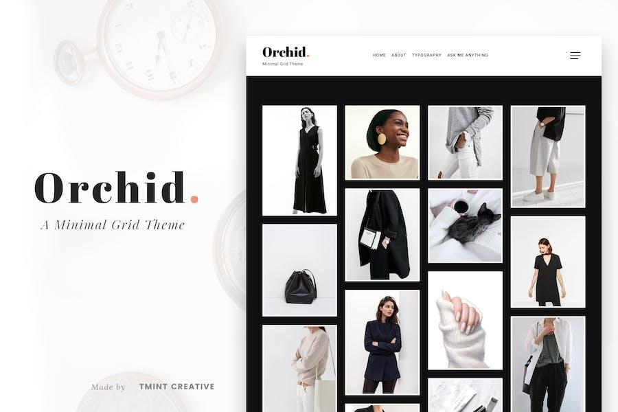 Orchid - Minimal Grid Tumblr Theme