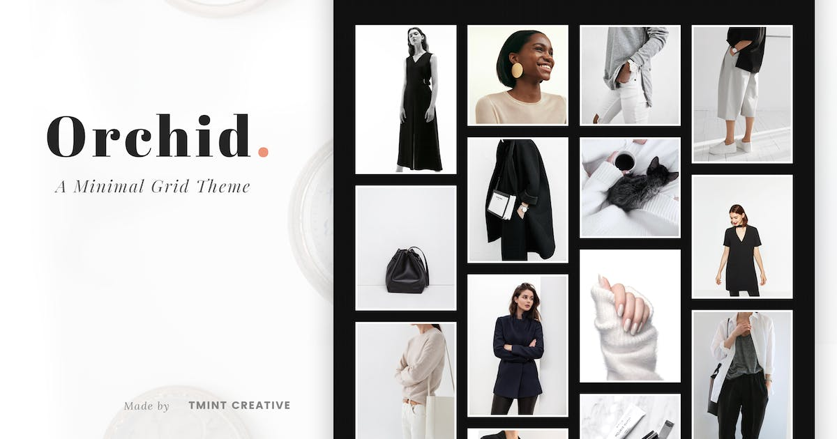 Download Orchid - Minimal Grid Tumblr Theme by TMint