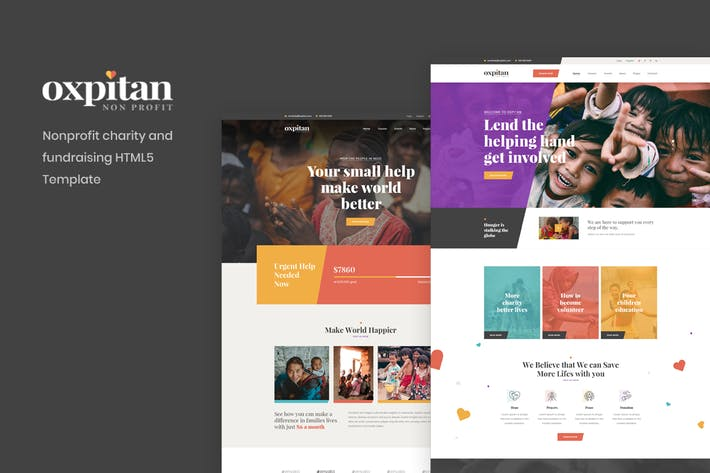 Thumbnail for Oxpitan - Nonprofit Charity and Fundraising HTML5