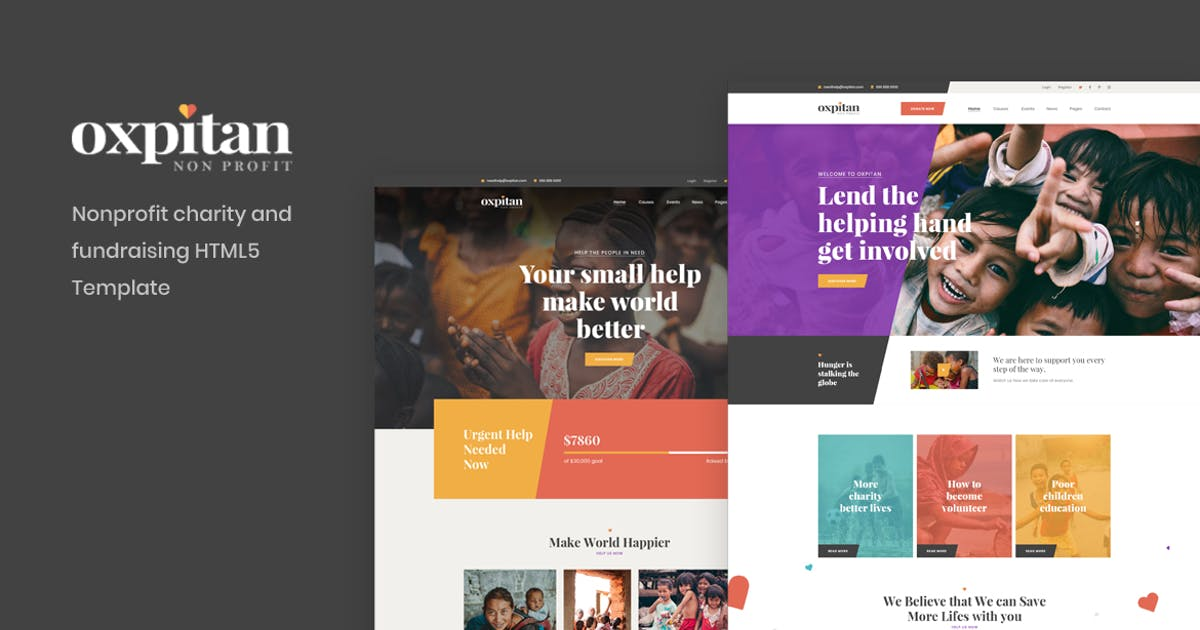Download Oxpitan - Nonprofit Charity and Fundraising HTML5 by Layerdrops