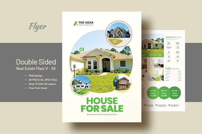 Thumbnail for Double Side RealEstate(Apartment Sales) Flyer V18