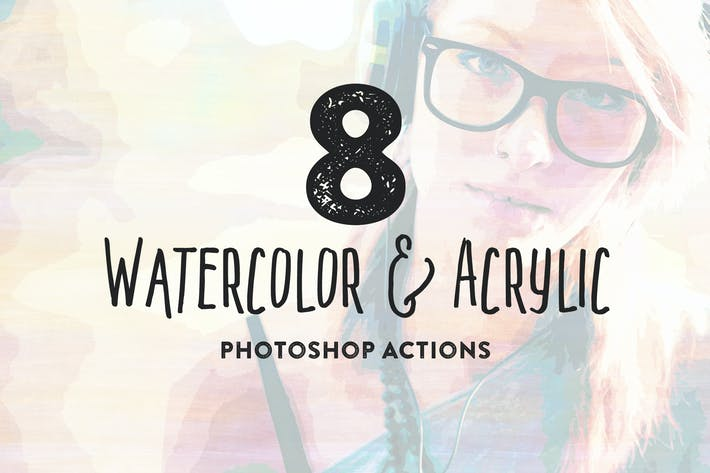 Cover Image For 8 Watercolor and Acrylic Painting FX