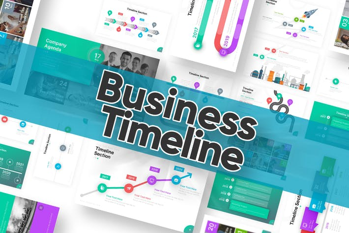 Thumbnail for Business Timeline Powerpoint Template