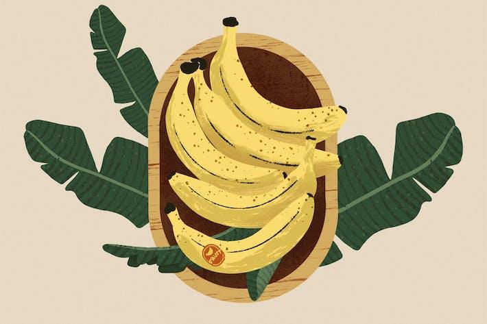Thumbnail for Banana Bowl Illustration and Patterns