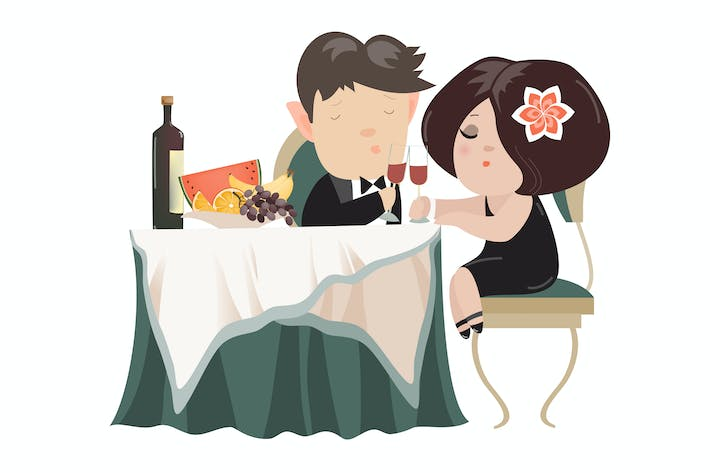 Thumbnail for Young adult couple drinking red wine