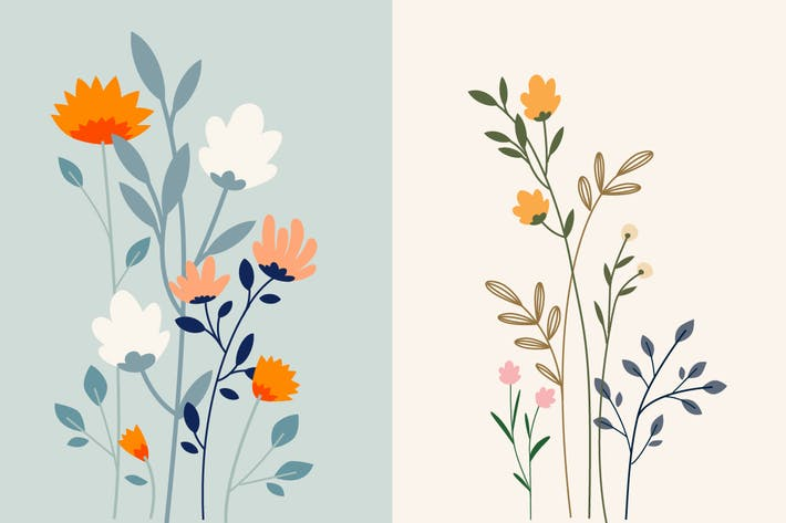 Thumbnail for Set of floral background