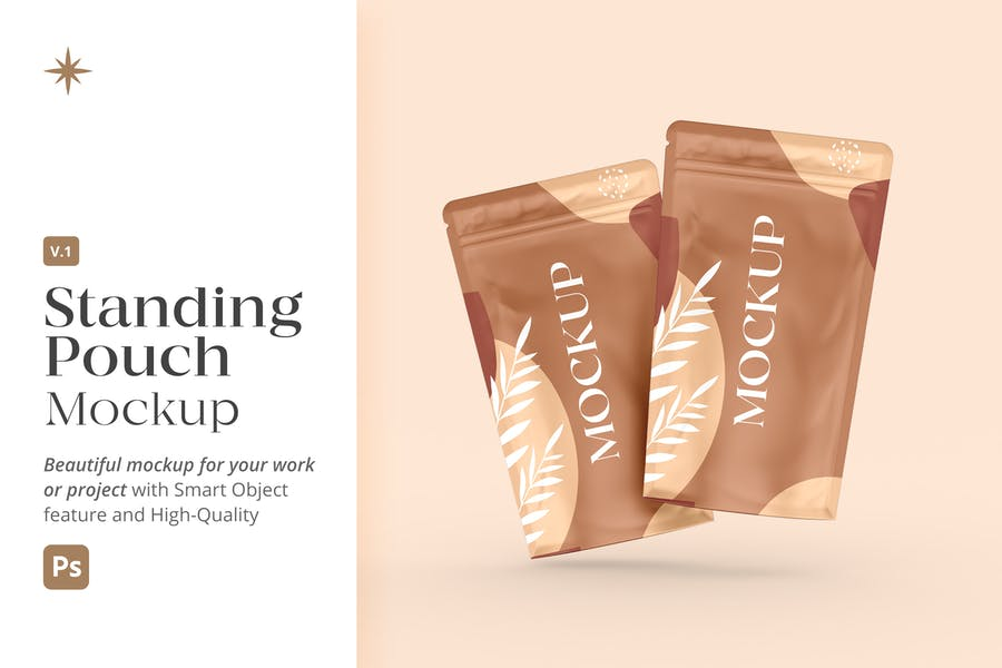 Realistic Standing Pouch Mockup v1