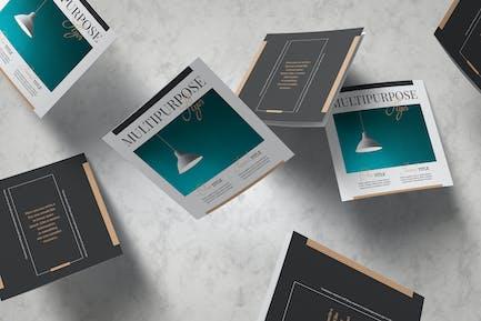 Multipurpose Square Trifold Template