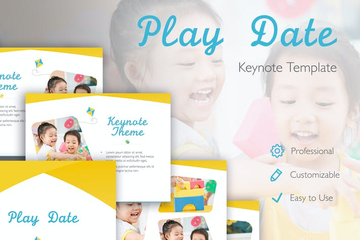Thumbnail for Play Date Keynote Template