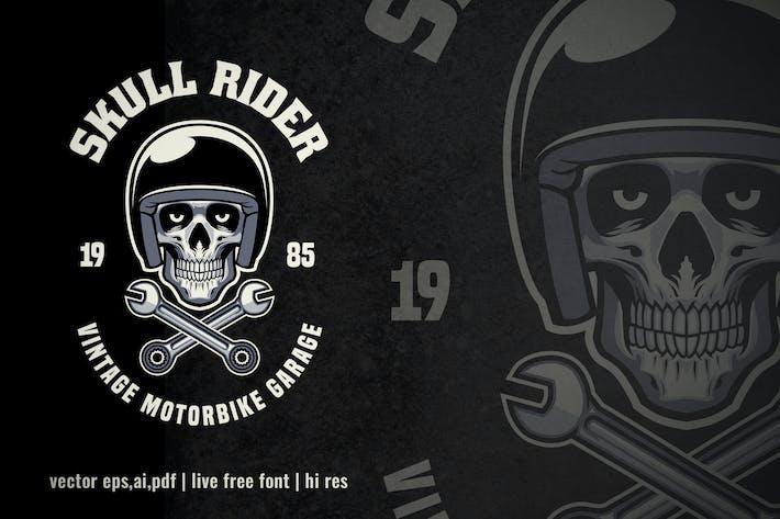 Thumbnail for vintage logo of skull motorcycle garage