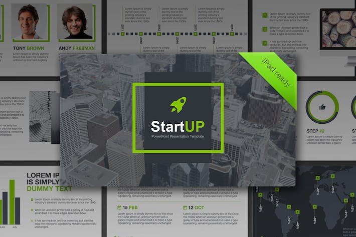 Cover Image For StartUP PowerPoint Template
