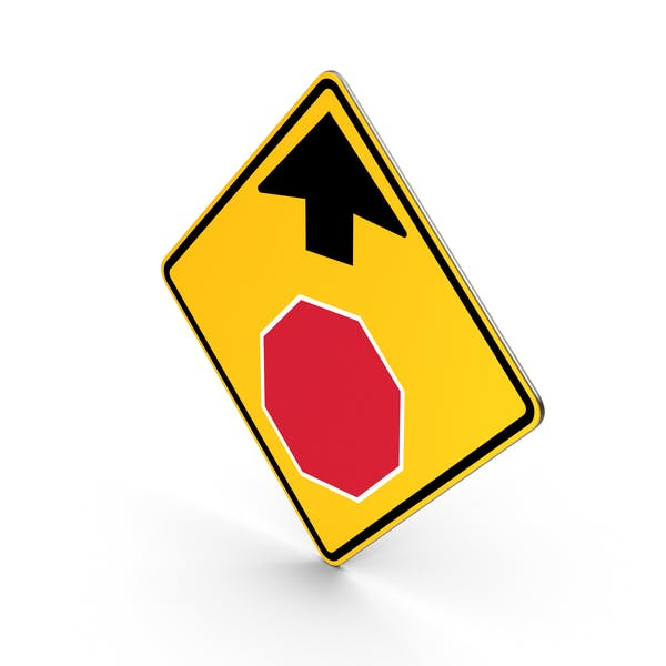 Road Sign Stop Ahead Traffic Control