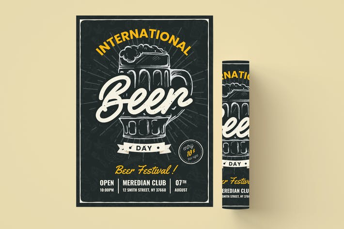 Thumbnail for Beer Day Flyer Template